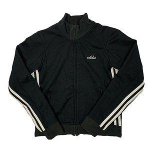 VTG Adidas Womens Black/White Striped Track Jacket